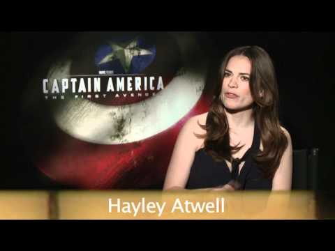 Captain America Interview - Hayley Atwell Loves Chris Evans' Manboobs!