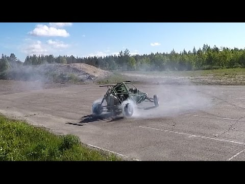 Barracuda buggy with CBR1000Engine BURNOUT