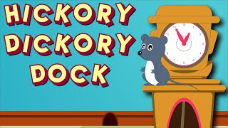 Hickory Dickory Dock | Nursery Rhyme | Animated Rhymes For Children & Kids Songs