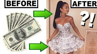 MAKING A DRESS OUT OF MONEY!
