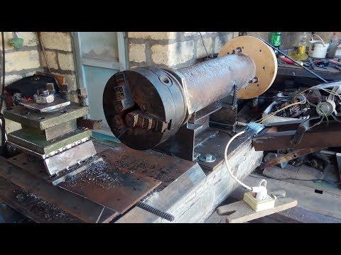 Токарный станок по металлу для гаража своими руками