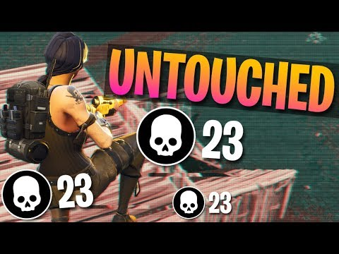 NEW WORLD RECORD! 23 KILLS WITHOUT GETTING HIT BY A PLAYER (Fortnite Battle Royale)