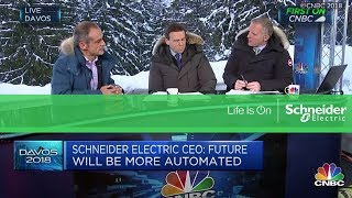 Schneider Electric CEO Jean-Pascal Tricoire discusses how technology is shaping future employment.