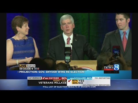 Gov. Rick Snyder's re-election acceptance speech