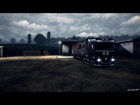 Euro Truck Simulator 2   Renault Magnum Interior & GPS Mod v1.0   Gameplay HD
