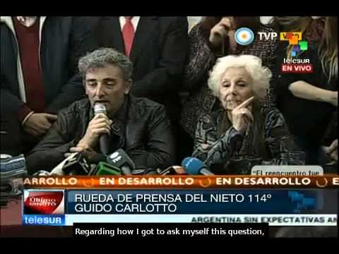 Guido Carlotto describes the process of reunion with his grandmother