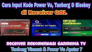 Cara input Power vu, Tanberg & Biss key di Receiver Gardiner Ottimo, Optus 66HD, LgSat Stars