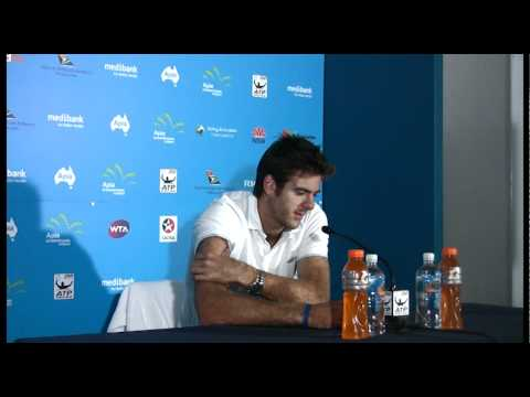 Juan Martin Del Potro quarterfinals press conference Apia International Sydney 2012
