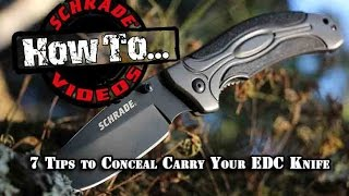 7 Tips to Conceal Carry Your EDC Knife - Best Practices - Schrade