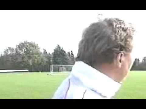 Harry Redknapp Gets Hit By A Football