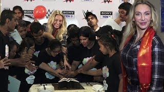 WWE Superstar Charlotte Flair Celebrates Children's Day With Indian Kids