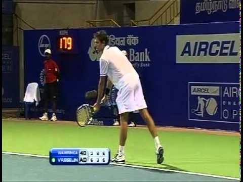 ACO 2012 - Singles R2 - Wawrinka. S vs Roger-Vasselin. E