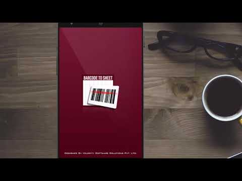 Barcode to Sheet Mobile App