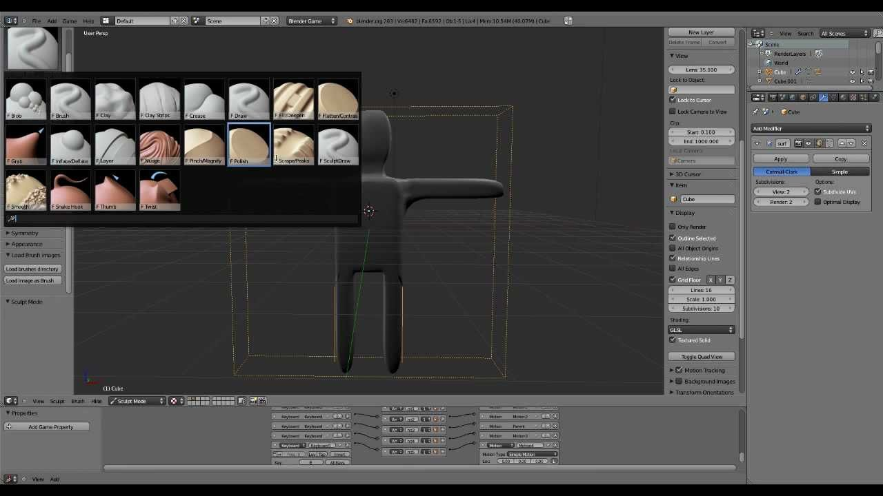Blender 2 64 Character Modeling Tutorial Part 2 : Creating a third person game in blender part modelling