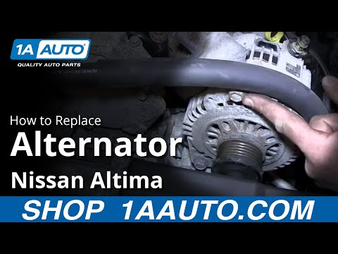 How To Replace Alternator 02 06 Nissan Altima How To