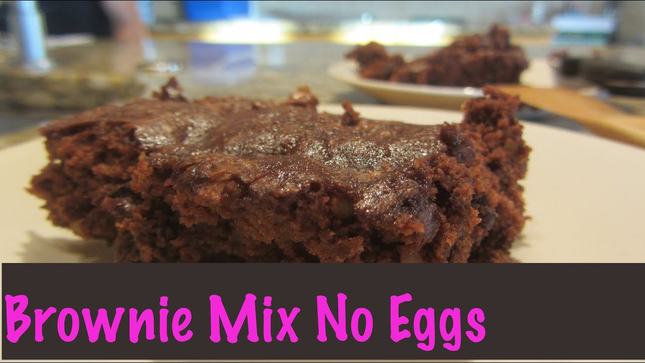 Brownie Box Mix No Eggs Eggless Veganized with Flax Egg ...