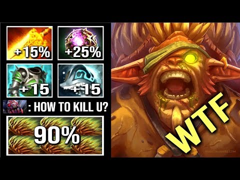 Epic -90% Damage 40% LifeSteal Fountain Can't Kill Pro Bristleback Crazy Gameplay WTF Dota 2