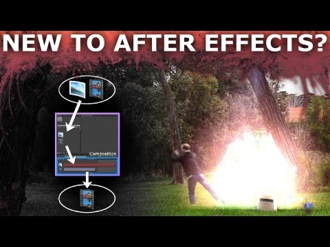 After Effects Basic Beginners Tutorial 1/5 - How To Create Cool VFX
