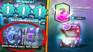 LEVEL 1 GETS FREE SUPER MAGICAL & EPIC CHEST DROP! | Clash Royale | + LEVEL 1 UNLOCKS NEW LEGENDARY!
