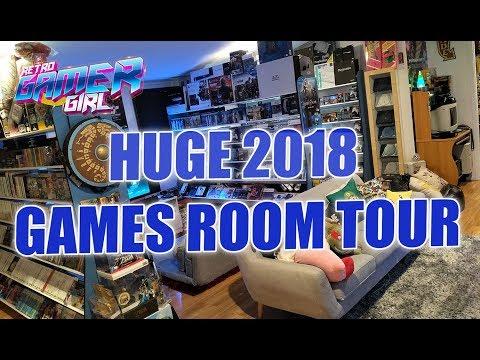 Huge 2018 Game Room Tour 50+ Systems & 2000+ Games Australia | Retro Gamer Girl