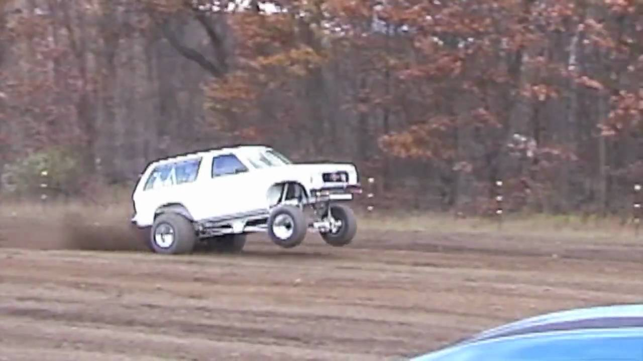 fast truck doing wheelies without wheelie bars - YouTube