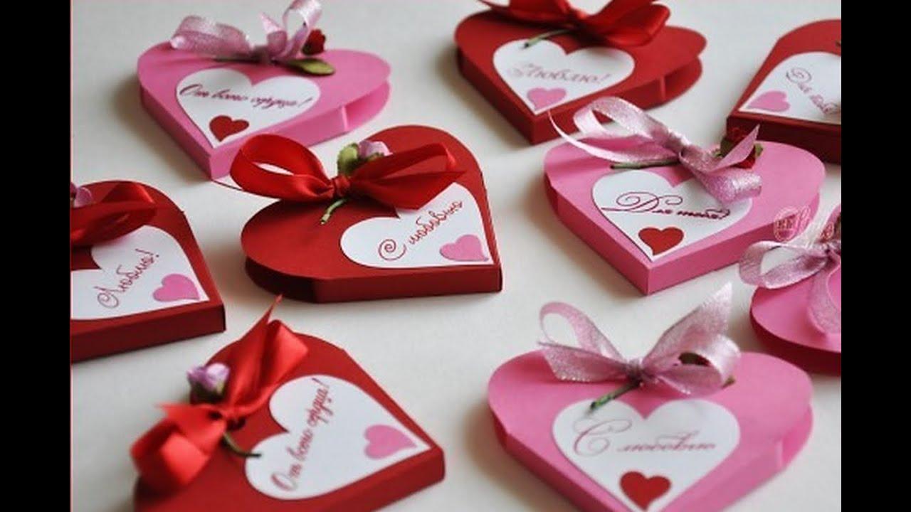 Подарки валентинки для него своими руками
