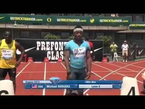 Mens 100m Sprint IAAF Diamond League Eugene 2013