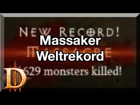 Diablo 3 WORLD RECORD MASSACRE 1629 MP10  - Weltrekord Massaker 1629 MP10