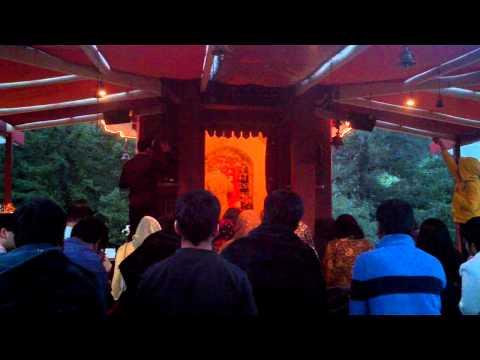 Aarti at Mt Madonna SankatMochan Hanumaan Temple.