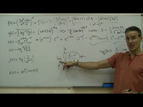 Derivada de una funcion 04- Regla de la Cadena unicoos 2ºBACHI bachillerato derivar