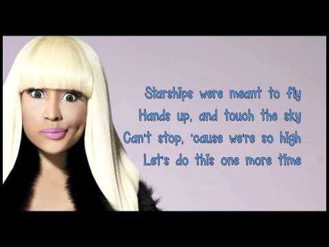 Nicki Minaj- Starships Lyrics (clean Version) video