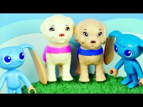 Barbie wielka przygoda z pieskami & Playmobil Super 4   Tubylcy   Bajki dla dzieci