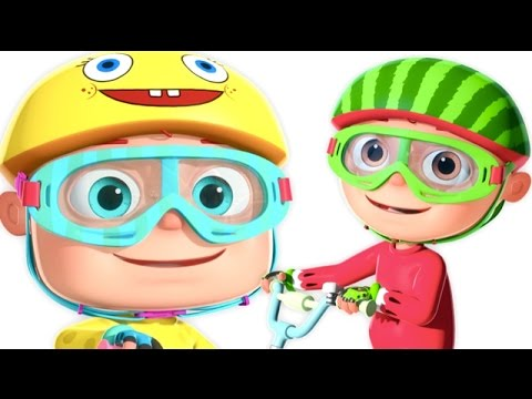 Five Little Babies Cycling On The Street And More   Five Little Babies Collection   3D Rhymes