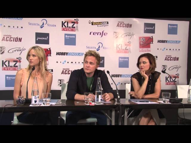 David Anders ,Jessica Schram , Keegan Connor from Once Upon A Time in Wizard Con Madrid