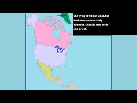 War Simulation : United States VS Canada VS Mexico