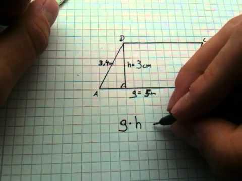 fl cheninhalt eines parallelogramms berechnen fl che. Black Bedroom Furniture Sets. Home Design Ideas