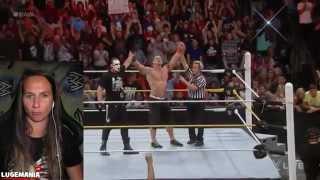 WWE Raw 9/14/15 Rollins/Big Show vs Sting/Cena