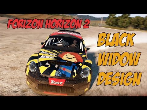 Forza Horizon 2 Design Showcase Black Widow VW Beetle GRC 2014 Drifts Drifting Drift Build