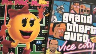 GRAND THEFT AUTO VICE CITY vs. MS. PAC MAN packaging review by CGR