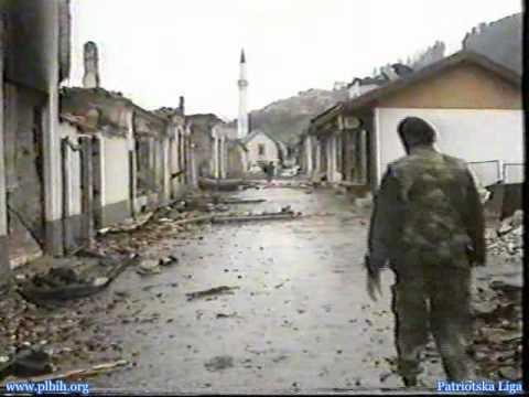 Agresija na BiH - Foca u plamenu - Sarajevo dzenaza - 1992