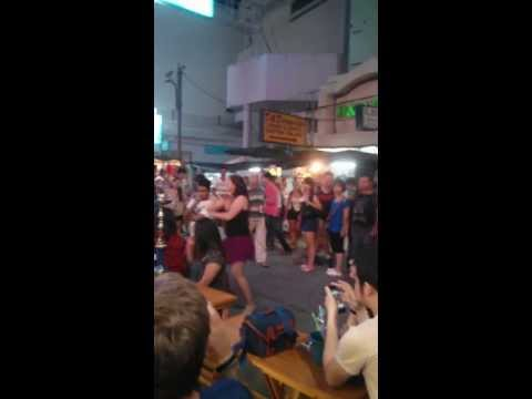 Gangnam Style Dance at Khao San Bangkok, Thailand