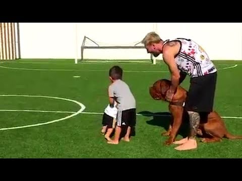 Famous kids playing ft. Cristiano Ronaldo Jr, Thiago Messi & more