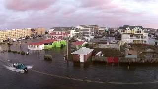 Aerial Footage Shows Flooding of North Carolina's Outer Banks