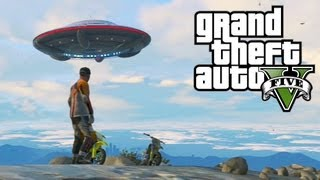Easter Egg do Disco Voador (OVNI) no GTA5: UFO, Alien no Grand Theft Auto V - Xbox 360 / PS3