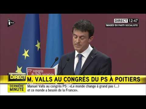 CONGRÈS DU PS À POITIERS DISCOURS DE MANUEL VALLS 06/06/2015