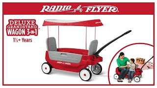 Radio Flyer Deluxe Grandstand Wagon 3-in-1™