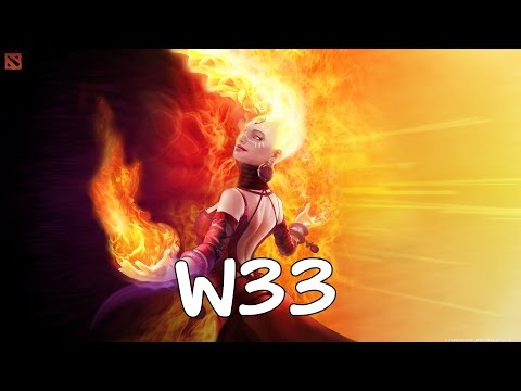 [Dota2] w33 Pro Lina Mid Ranked MMR Game [ w33 Gameplay ] 7305 MMR