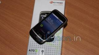 Micromax Andro A70 Unboxing and hands on