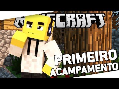 JABUTI SELVAGEM #2: PRIMEIRO ACAMPAMENTO! - Minecraft