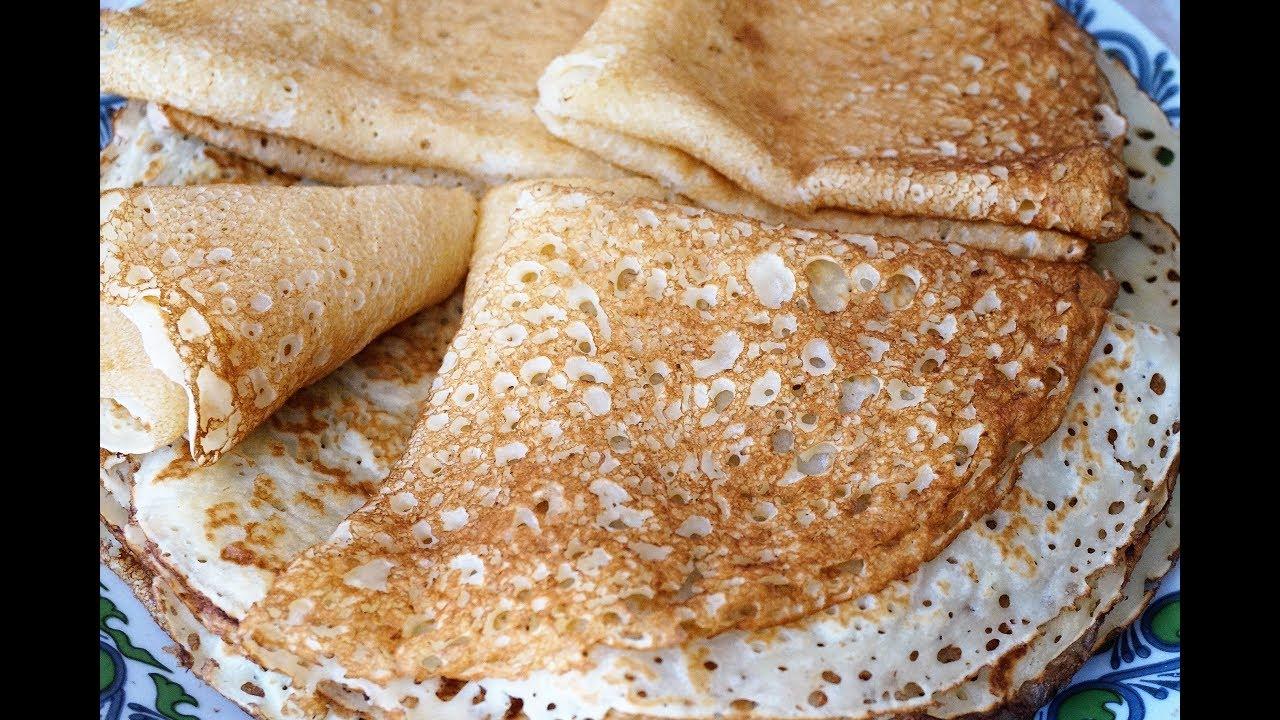 Вкусные блины на кефире в дырочку рецепт